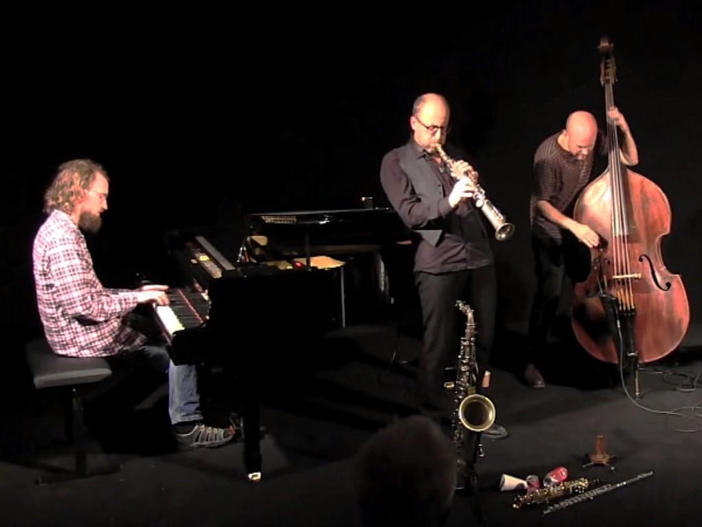 Erik Oscarsson kvartett. Bild ifrån en konsert.